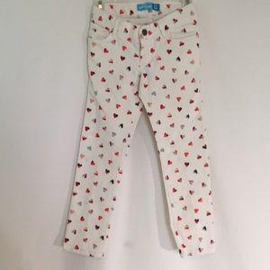 Girls, Skinny, Heart Printed, Jeans